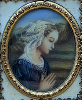 Fabulous early 1900s Italian Miniature Oil Portrait Painting - Stunning Frame!' (2 of 11)
