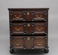 Mid 18th Century oak moulded front chest of drawers (10 of 10)