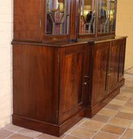 George 3 mahogany breakfront bookcase library circa 1800 (6 of 9)