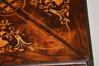Antique Victorian Inlaid Rosewood Envelope Card Table (10 of 12)