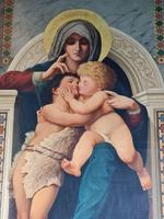 William-Adolphe Bouguereau 'la Rochelle 1825-1905' Copy of Madonna Enthroned (4 of 8)