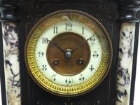 Very Fine French Slate & Marble Mantel Clock 8 Day Striking Mantle Clock (4 of 10)