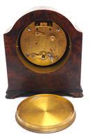 Impressive Amboyna Burr Walnut Edwardian Timepiece Mantel Clock by Dent London (7 of 10)