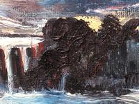 20th Century Oil Painting Wales Menai Bridge Church Straits Snowdonia Mountains (6 of 27)