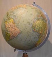 Globe on Oak Base Set with Compass (5 of 7)
