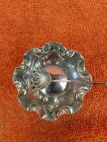Antique Sterling Silver Hallmarked Salts & Matching Spoon 1897 E G (2 of 8)
