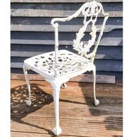 Aluminium Vintage White Painted Five Piece Patio Set (5 of 12)