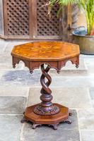 Victorian Oak Octagonal Table (6 of 15)