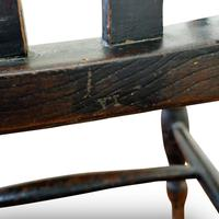 Antique Elm Lath Back Armchair (7 of 9)