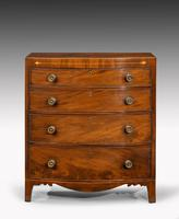 Most Attractive George III Period Mahogany Bow Front Chest of Drawers (3 of 6)