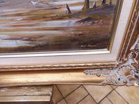 Large Oil on Canvas Marine Seascape Listed Artist Bill Haines (3 of 13)