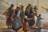 European School 19th Century Oil on Board, Coastal Scene (3 of 5)