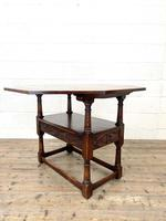 Large Early 20th Century Antique Oak Monk's Seat (8 of 10)