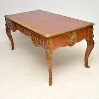 Large Antique French Gilt Bronze Mounted Desk (5 of 16)