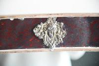 Antique Red Glass Overmantle Mirror (4 of 12)