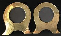 Pair of Brass Art Nouveau Easel Photo Frames (3 of 4)