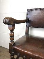 Set of Six Oak and Leather Dining Chairs (9 of 23)