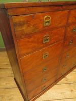 Substantial Antique Bank Of 18 Shop Drawers (18 of 25)