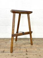 Pair of Rustic Wooden Cutler's Stools (4 of 10)