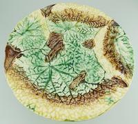Attractive Majolica Pottery Cabbage Ware Comport / Tazza 19th Century (4 of 6)