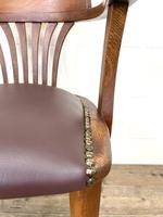 Early 20th Century Antique Oak Desk Chair (5 of 9)