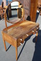 1940s Walnut Dressing Table with Central Mirror (2 of 4)