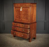 18th Century Walnut Escritoire Cabinet on Chest (11 of 14)