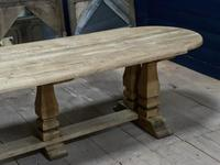 Huge French Bleached Oak Monastery Dining Table (9 of 30)