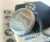 Vintage Pocket Watch 1970s Railroad 9ct White Gold Plated Swiss & West Germany Nos (8 of 12)