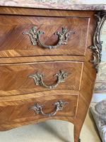 French 19th Century Kingwood Commode with Marble Top (2 of 6)