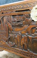 Oriental Carved Teak & Camphor Wood Chest - 1930s (9 of 15)