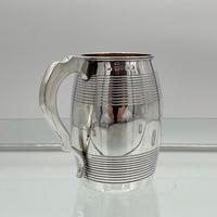 Antique George III Sterling Silver Pint Mug London 1815 William Stroud (4 of 7)