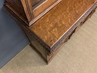 Victorian Carved Oak 3 Door Bookcase (10 of 23)