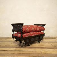 Early 20th Century Moorish Rosewood Window Seat - Bench (6 of 11)
