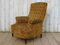 Antique Napoleon III High Back Armchair for re-upholstery (8 of 8)