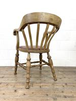 Early 20th Century Beech Smoker's Bow Chair (8 of 8)
