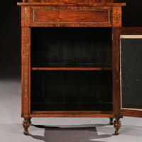 Fine Regency Brass Inlaid Rosewood Chiffonier Of Narrow Proportions (3 of 7)