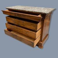 Figured Walnut Marble Top Commode (8 of 9)