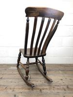 Antique Ash & Elm Rocking Chair (3 of 7)