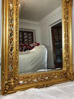 Huge French Sphinx Garland Floral Crown Gilt Pier Glass Wall Floor Mirror (3 of 14)