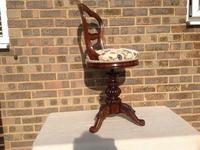 Victorian Rosewood Music Chair (3 of 3)