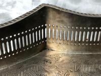 Antique Victorian Serpentine English Silver Plate Acanthus Salver Tray (6 of 13)
