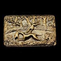 Georgian Solid Silver Gilt Snuff Box With Spectacular Fox Hunting Scene - Edward Smith 1832 (20 of 22)