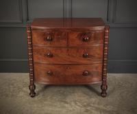 Small Regency Mahogany Bow Front Chest of Drawers (4 of 12)