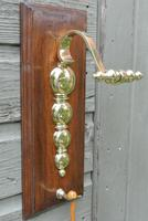 Quality Victorian William Tonks Large Brass Dinner Gong with Oak Back Board c.1900 (6 of 11)