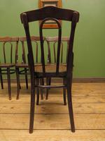 Four Antique Polish Thonet Style Bentwood Bistro Chairs with Pressed Seats (10 of 22)