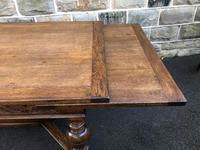 "Large Antique Oak 10ft 6"" Extending Dining (8 of 12)"