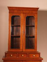 English 19th Century Glassed Bookcase In Light Mahogany (9 of 9)