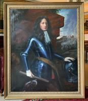 Huge Oil Portrait Painting 'King William III' After Sir Peter Lely (2 of 13)