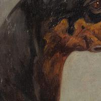 Wilhelm Westerop, Portrait of a Doberman, Oil Painting (7 of 10)